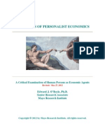Principles of Personalist Economics