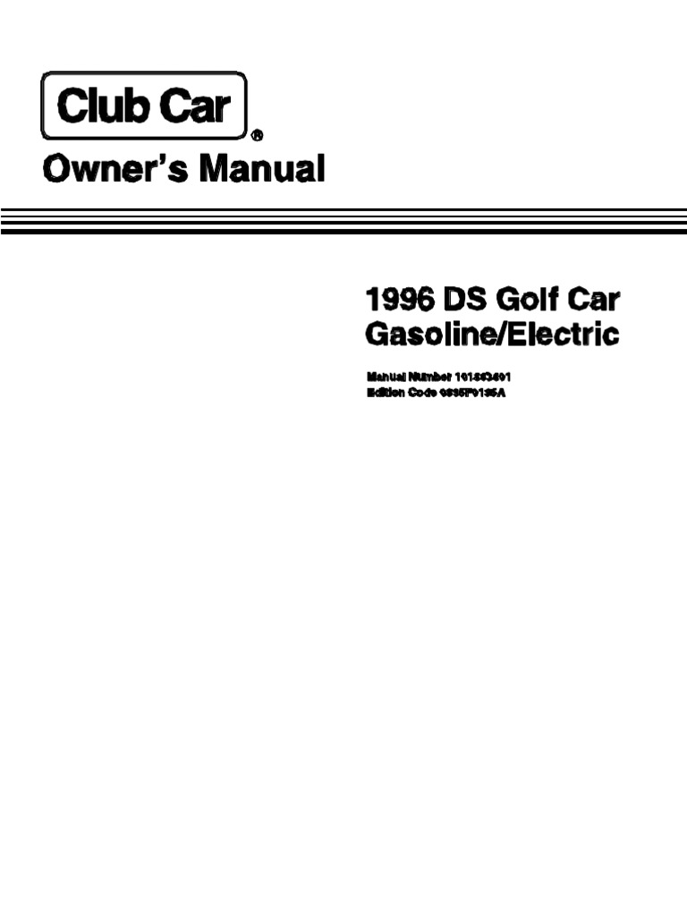 1996 club car ds golf cart owner s manual vehicles battery rh scribd com Club Car Battery Chargers Manual 1996 club car service manual
