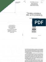 Vial Del Rio Victor Teoria General Del Acto Juridico - Completo 5ed