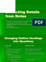 Extracting Details From Notes