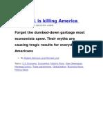 Econ 101 is Killing America