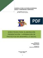 Directriz Para Proyectos de Desarrollo Social