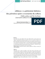 Politicas Publicas e o Patrimonio Historico - Contemporanea_n17_07_bispo