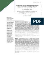 Percepción del proceso salud-enfermedad-atención y aspectos que influyen en la baje atención del Sistema de Salud, en familias pobres de la ciudad de Salta