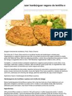 Vista-se.com.Br-Folha Aprenda a Fazer Hambrguer Vegano de Lentilha e Quinoa