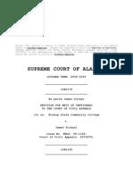 Alabama Supreme Court Opinion in Bishop State Community College v. Soleyn 5-29-09