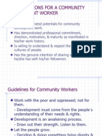 Qualifications for a Community Development Worker