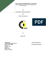 Industrial Training Report Performa