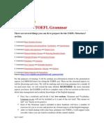 Grammar for TOEFL