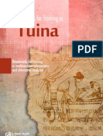 Benchmarks for Training in Tuina