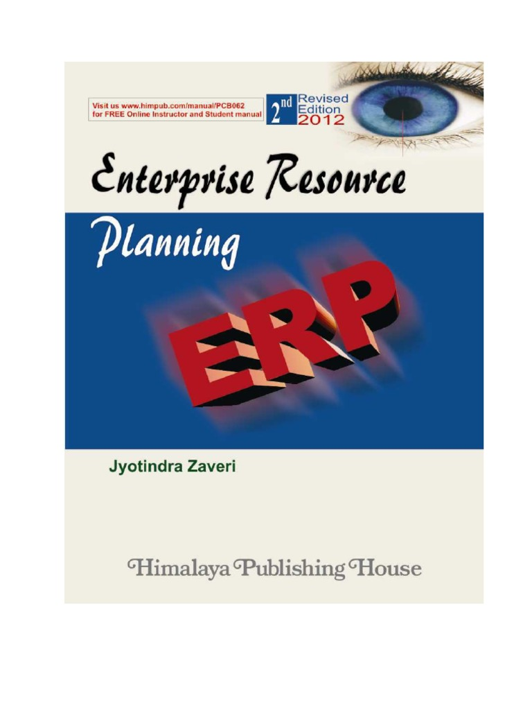 erp book authored by jyotindra zaveri second edition excerpts