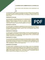 SINOPSIS HISTÓRICA DE LA DIVISIÓN POLÍTICO ADMINISTRATIVA DE LA REPÚBLICA DE EL SALVADOR