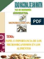 Papel e Importancia de Los m.o.s. en Los Alimentos