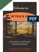 Outback Shack Dinner Menu