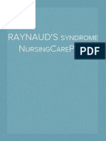 Nursing care plan for Raynaud's Syndrome
