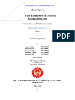 Design and Fabrication of Domestic Refrigeration Unit