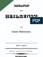 Hahnemann - Organon_der_Heilkunst (3.Auflage 1824)