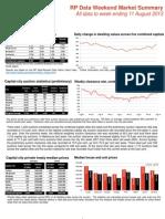 Weekend Market Summary Week Ending 2013 August 11