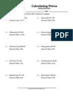 Worksheet Works Calculating Prices 1