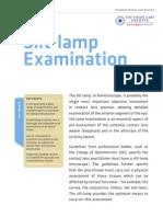 Slit Lamp Examination