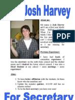 Josh for Secretary