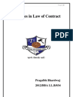 Damages in Law of Contract