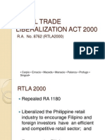 Retail Trade Liberalization Act 2000