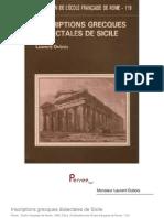 Inscriptions Grecques Dialectales de Sicile