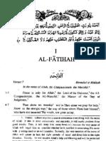 Sura  Al-Fatihah- English