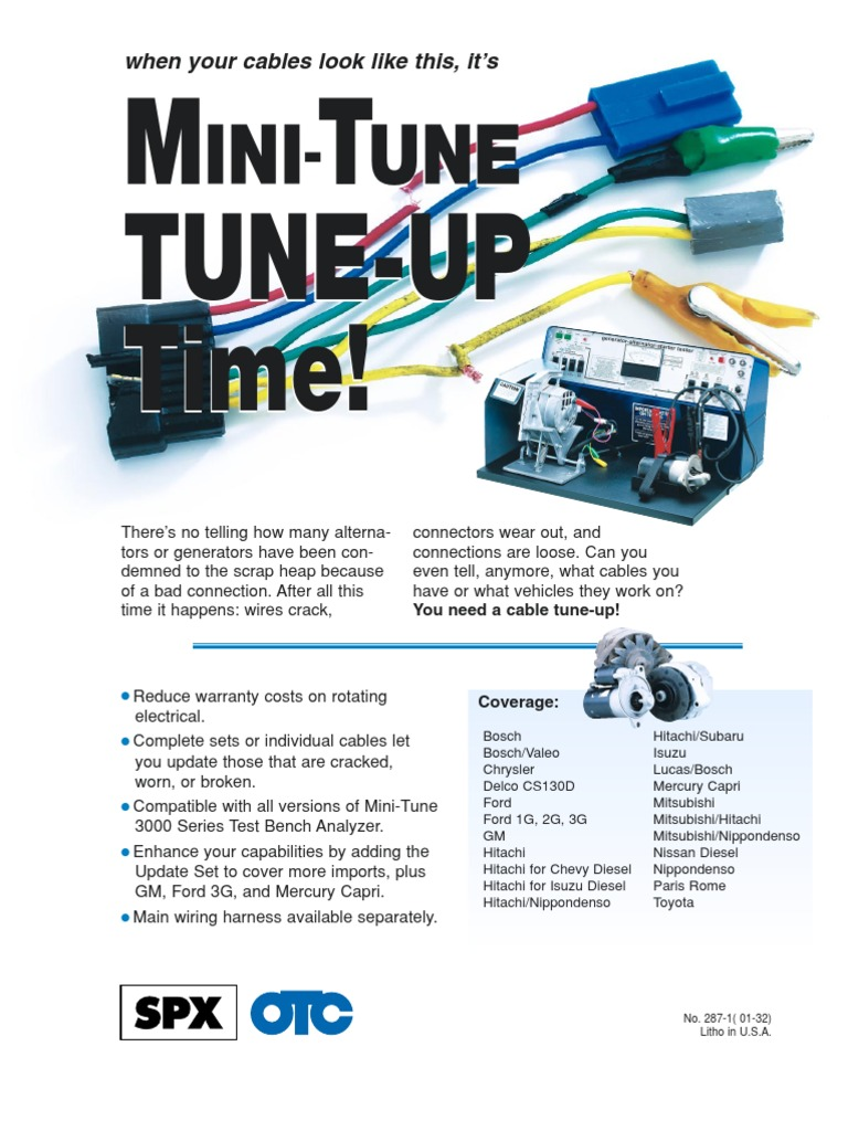 Mini Tune Ford Motor Company Car 3g Alternator Wiring Harness