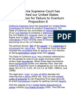 Failure to Overturn Proposition 8