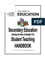 Secondary and Special Education Student Teaching Handbook