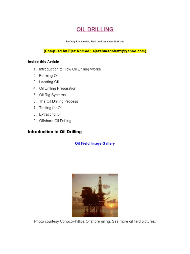 Basics for Oil Riggers | Casing (Borehole) | Drilling Rig