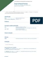 Currículo do Sistema de Currículos Lattes (Fábio Jorge de Nazaré Ferreira)