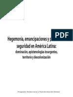 33023988 Ana Esther Cecena Hegemonias Emancipaciones y Politicas de Seguridad en a Latina