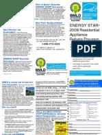 2009 Appliance Rebate Program & Form Brochure