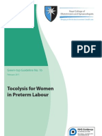 Tocolysis for Women in Preterm Labour Guidline