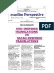 Per Perkthimin e Autorizuar Te Kuranit , Nga Rashad Khalifa