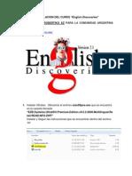 Manual Instalacion English Discoveries