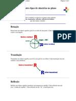 Os Quatro Tipos de Simetrias No Plano