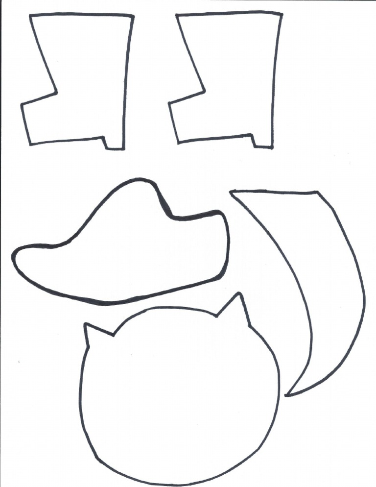 Puss in Boots craft template