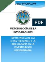 Presentación CITAS BIBLIOGRÁFICAS