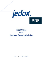 First Steps With Jedox Excel Addin