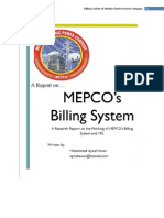Billing System of MEPCO Report