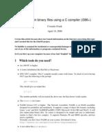 Making plain binary files using a C compiler