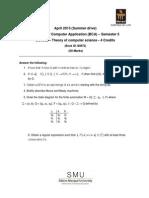 BC0052-Theory of Computer Science BCA