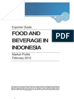 Food and Beverage Market Profile Indonesia 2012 | Grocery