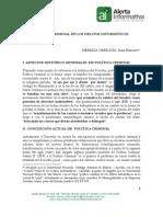 POLÍTICA CRIMINAL DE LOS DELITOS INFORMÁTICOS HEREDIA OBREGON STALIN