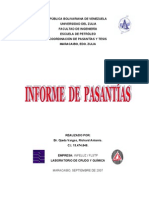 Informe de pasantías. Richard Ojeda