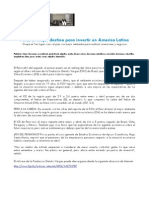 Peru, el mejor destino para invertir en America Latina